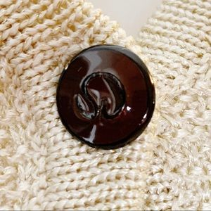 St. John Collection Sweaters - St. John Cream Gold Santana Knit Cardigan Size 4
